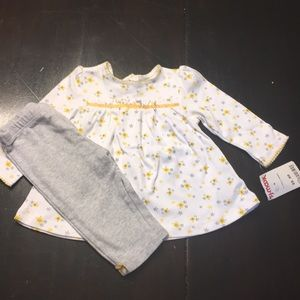 Little Me 2 piece baby girl outfit 9months NWT